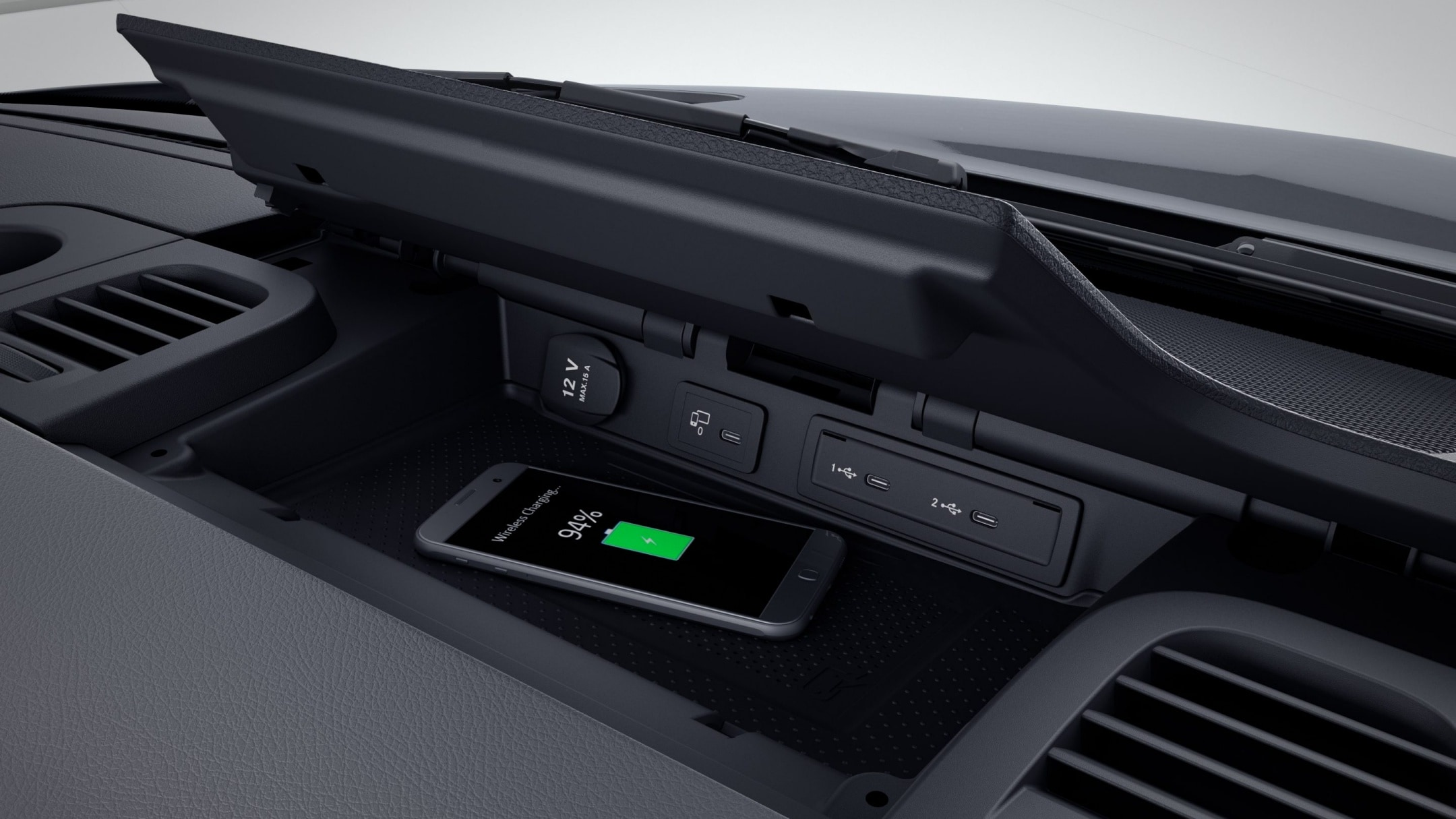 Sprinter Furgão, base para smartphones com Wireless Charging